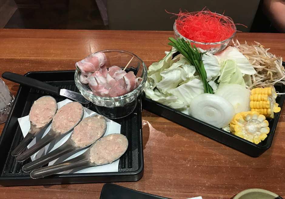 セブの日本食rストランKushiyaki Chikuzenyaのしゃぶしゃぶ食べ放題メニューのサイド