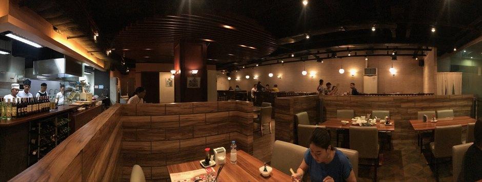 セブの日本料理店Kushiyaki Chikuzenyaの店内