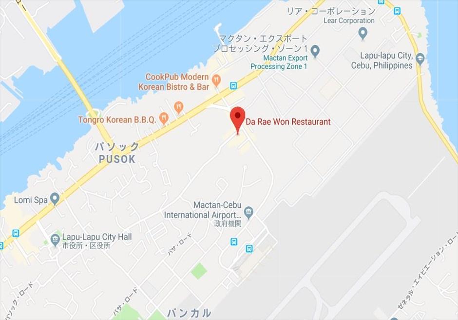 セブ韓国料理レストラン・ダレウォン地図