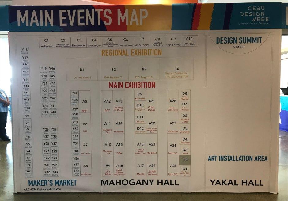 セブ・デザインウィーク2019・イベントマップ