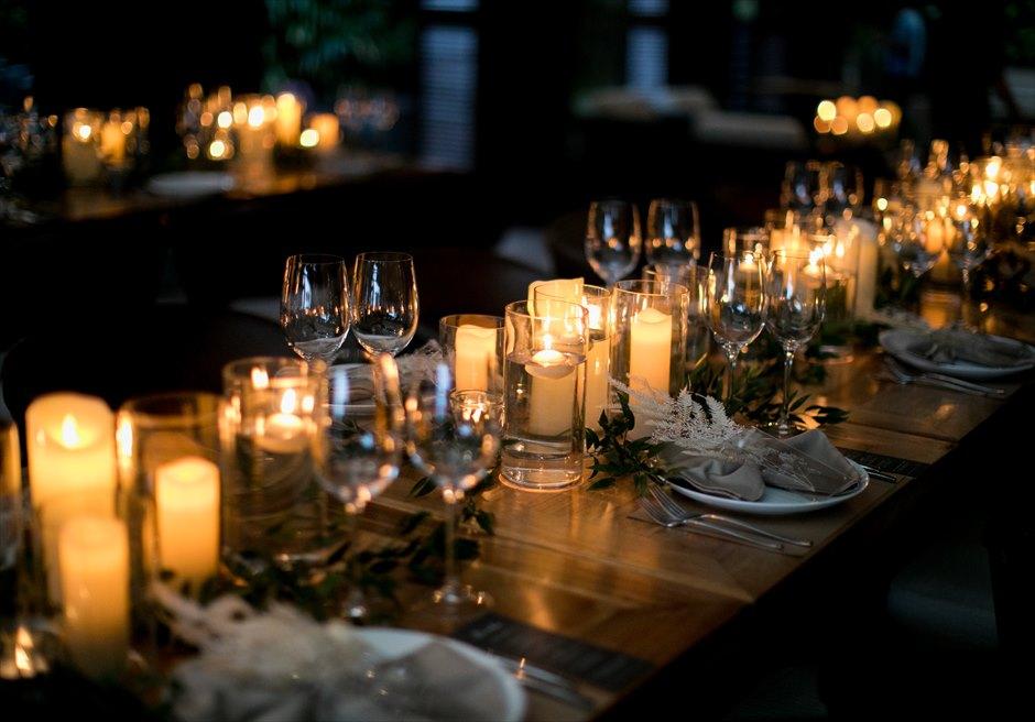 セブ島結婚式 アバカ パーティー ・テーブルデコレーション