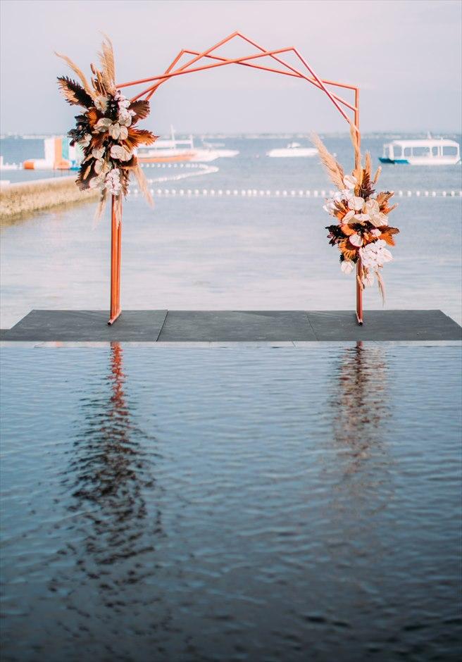 セブ島結婚式 アバカ 会場装飾