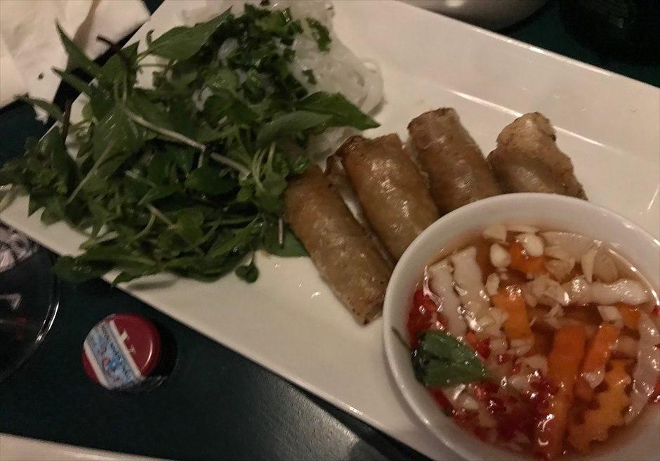 ベトナム ソル・アン・バン・リゾート ディナー 春巻き