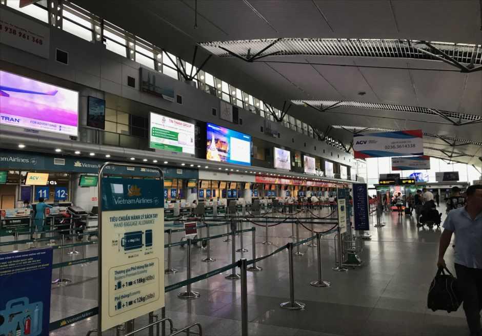 ベトナム ダナン空港 国内線ターミナル チェックインカウンター