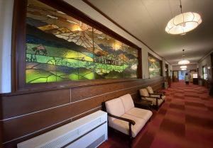 軽井沢 万平ホテル ステンドグラス装飾